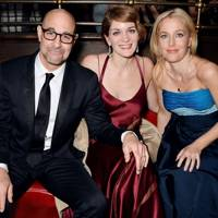 Stanley Tucci, Felicity Blunt and Gillian Anderson