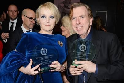 Miranda Richardson and Timothy Spall