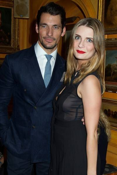 David Gandy and Mischa Barton