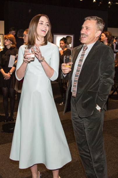 Emily Blunt and Christoph Waltz