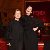 Silvia Fenturini Fendi and Amanda Harlech