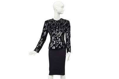 Embroidered black sequinned velvet evening jacket by Giorgio Armani, 1980s