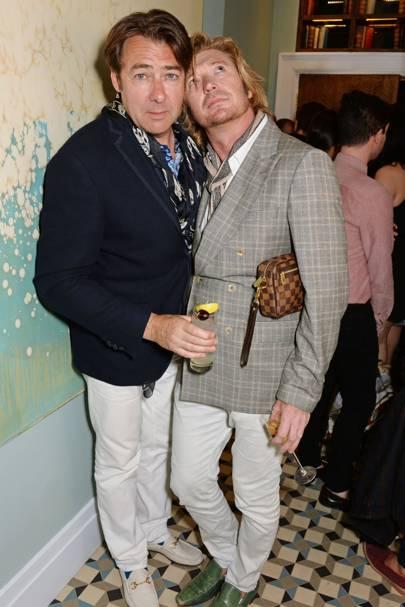 Jonathan Ross and Nicky Clarke