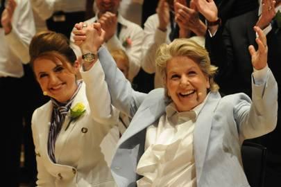 Debbie Toksvig and Sandi Toksvig