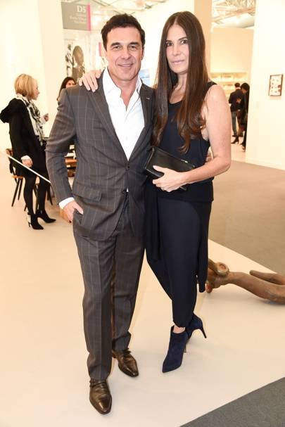 Andre Balazs and Elizabeth Saltzman