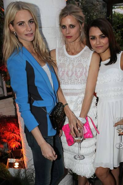 Poppy Delevingne, Laura Bailey and Samantha Barks