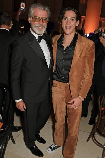 Pierce Brosnan and Paris Brosnan