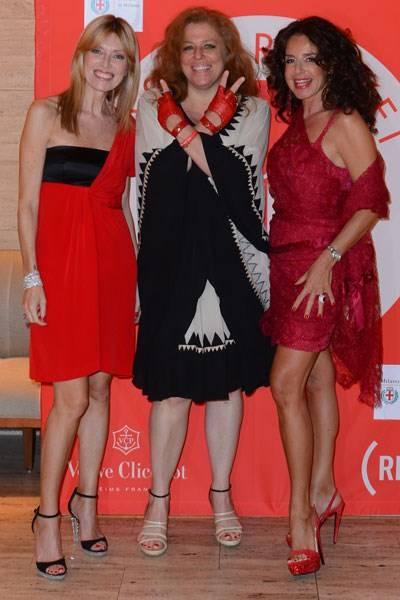 Umberta Beretta, Olivia Mariotti and Gaberiella in Milan