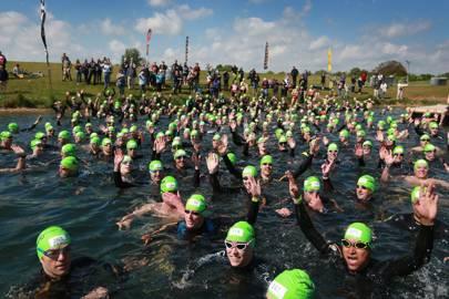 Open water swimming at Eton