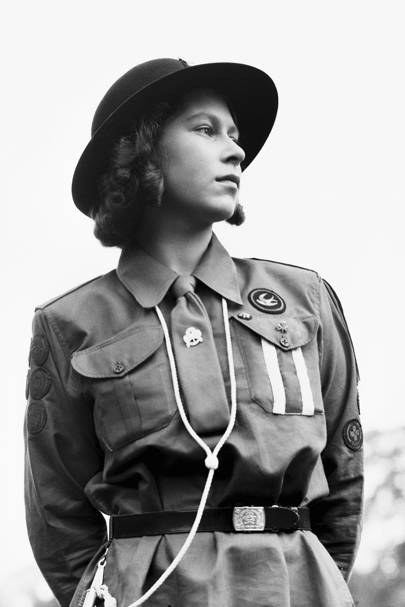 The Queen at Frogmore in 1942, aged 16