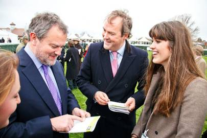 Hugh Bonneville, Harry Herbert and Chloe Herbert