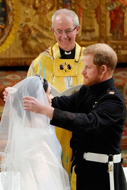 Meghan Markle, Justin Welby and Prince Harry