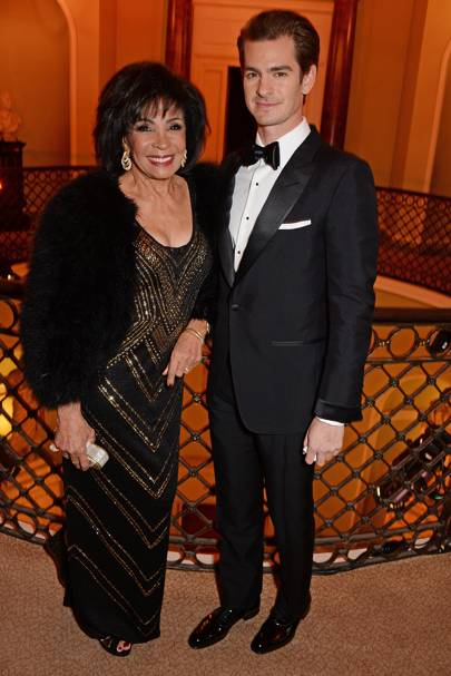 Dame Shirley Bassey and Andrew Garfield