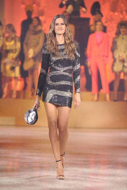 Izabel Goulart in an embroidered Pucci by Peter Dundas dress, 2009