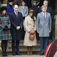 The Duchess of Cambridge, the Duke of Cambridge, Meghan Markle and Prince Harry