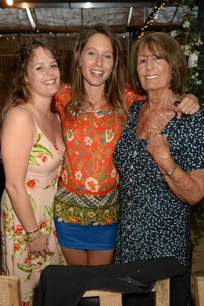Sophie Fane, Jemima Jones and Lady Annabel Goldsmith