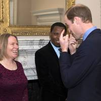 Amy Dickman and the Duke of Cambridge