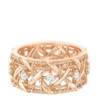 Rose-gold ring, £1,900, by Dior