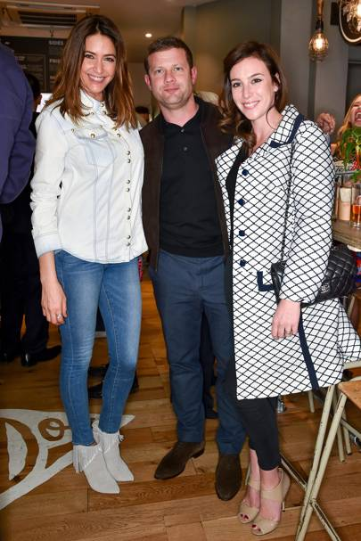 Lisa Snowdon, Dermot O'Leary and Dee Koppang