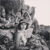 Alexa Chung on the rocks with Tiger Lily Hutchence (2014)