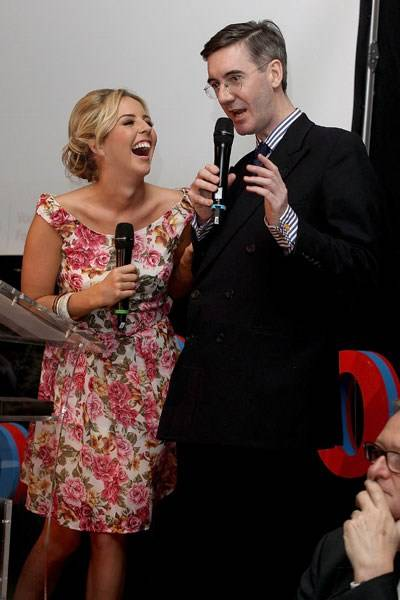 Lydia Bright and Jacob Rees-Mogg