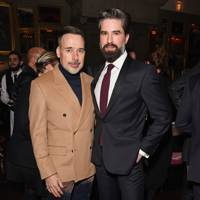 David Furnish and Jack Guinness