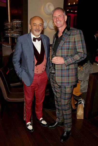 Christian Louboutin and Alan Jarvie