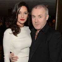Roxie Nafousi and Damien Hirst