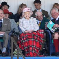 Prince Philip, the Queen and the Prince of Wales attend the Braemer Gathering, 2017