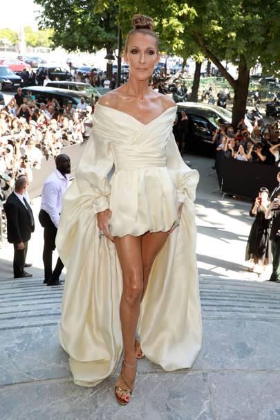 Celine Dion attends the Alexandre Vauthier