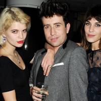Pixie Geldof, Nick Grimshaw and Alexa Chung
