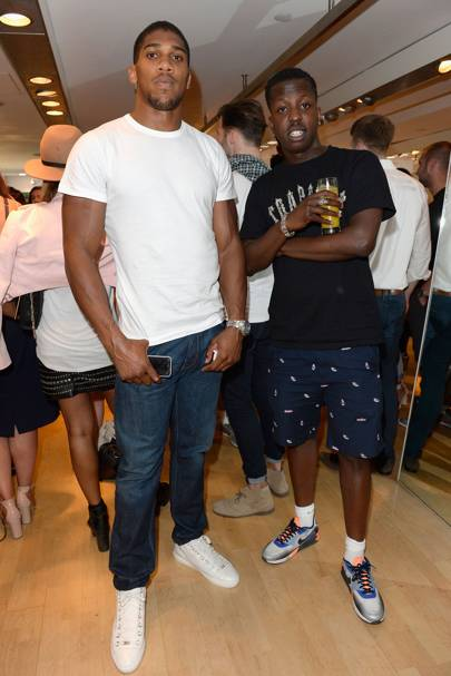 Anthony Joshua and Jamal Edwards