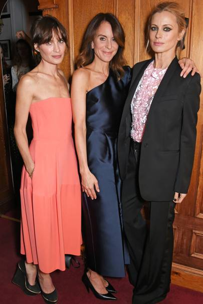 Sheherazade Goldsmith, Alison Loehnis and Laura Bailey