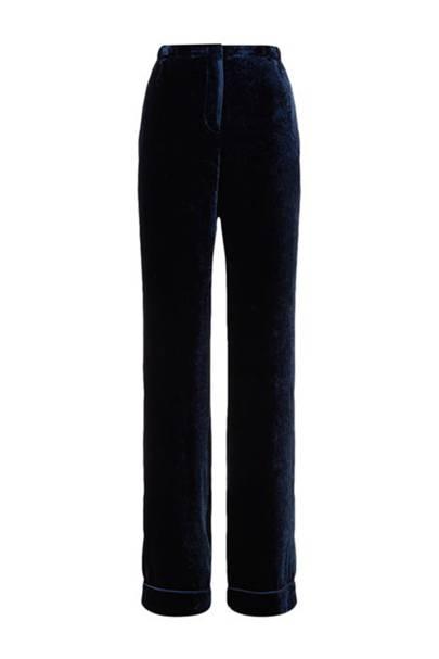 Alberta Ferretti velvet trousers