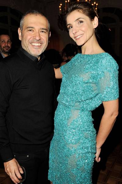 Elie Saab and Clotilde Courau