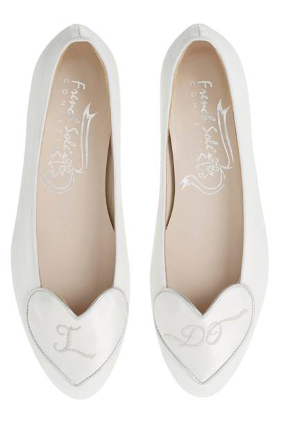 French Sole flat wedding shoes