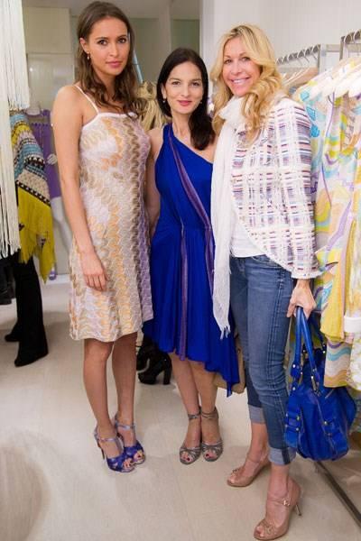 Sasha Volkova, Yasmin Mills and Melissa Odabash