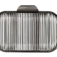 Metal clutch, £950, by Jimmy Choo