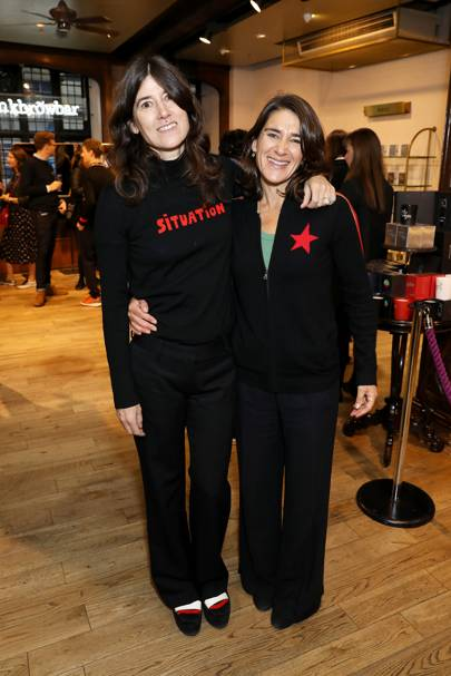 Bella Freud and Esther Freud
