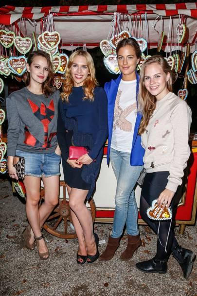 Emilia Schuele, Julia Dietze, Cleo von Adelsheim and Alica von Rittberg