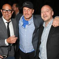 Stanley Tucci, Woody Harrelson and Matthew Freud