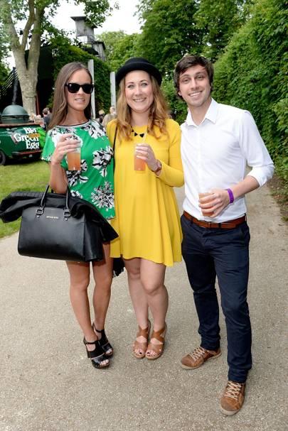 Gemma Grady, Michelle Gillam and Andy Pete