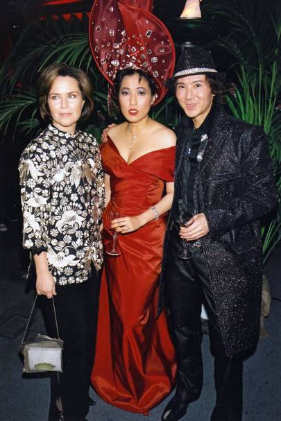 Koo Stark, Mrs Andy Wong and Andy Wong