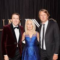 Jonathan Ross, Amanda Nevill and Tom Hooper