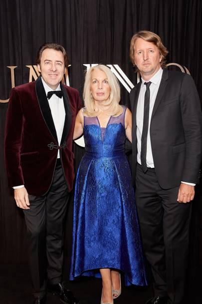 Jonathan Ross, Amanda Nevill and Tom Hooper