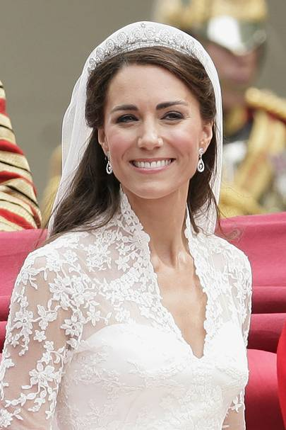 Cartier Halo Tiara and Robinson Pelham earrings