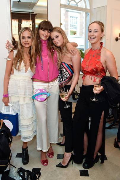 Lady Amelia Windsor, Poppy Fordham, Bea Fresson and Liberty Fisher