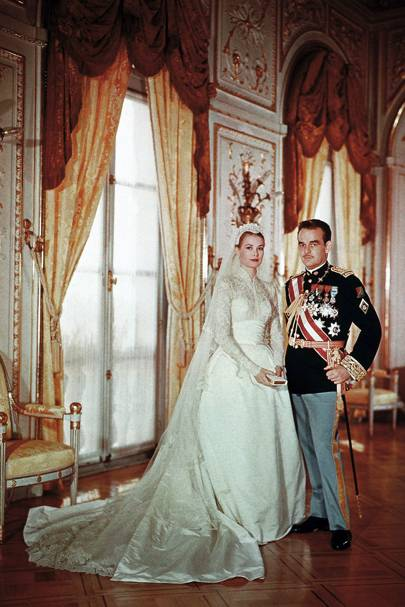 The wedding of Princess Grace of Monaco and Prince Rainier of Monaco, 1956