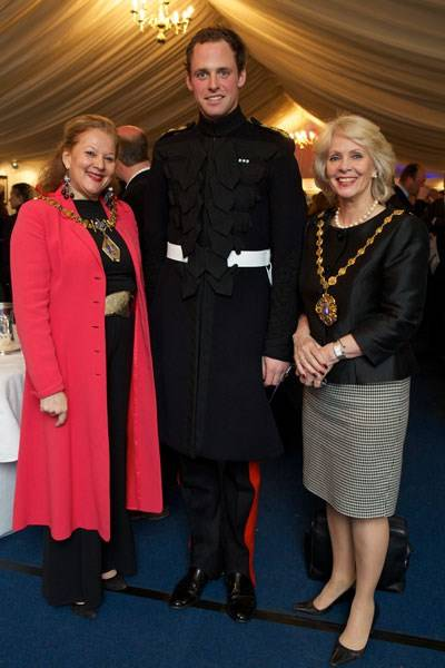 Councillor Julie Mills, Captain Billy Morley and Councillor Susie Burbridge