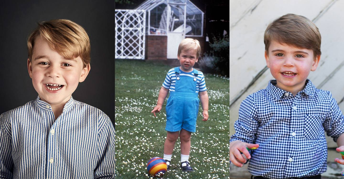Royal resemblance: Prince Louis looks just like George – and a young William – in new photo